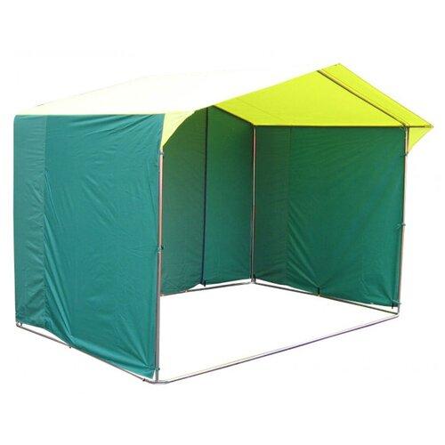 Фото - Палатка торговая Митек Домик 3.0х1.9 (желто-зеленый) палатка митек нельма 1
