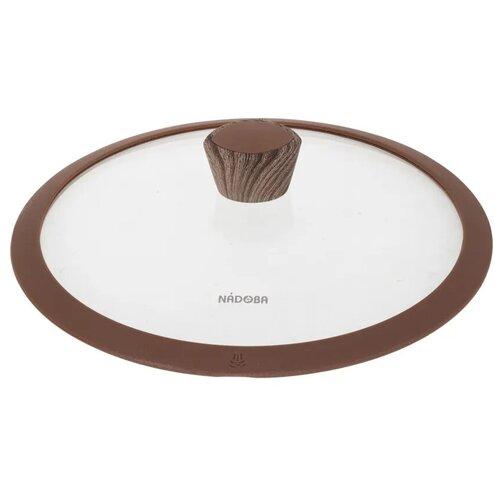 Фото - Стеклянная крышка с силиконовым ободом, 24 см, NADOBA, серия GRETA крышка стеклянная nadoba greta 28 см