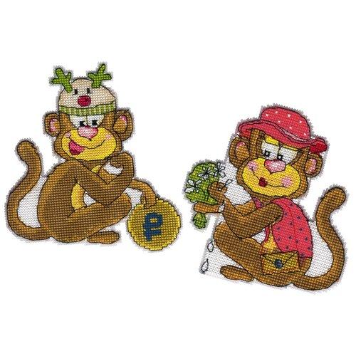 Купить Набор для вышивания PANNA IG-1731 ( ИГ-1731 ) Магниты Обезьянки 1 шт., Наборы для вышивания