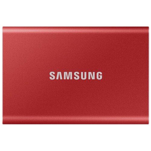 Фото - Портативный SSD Samsung T7 Touсh 2Tb 1.8, USB 3.2 G2, крас, MU-PC2T0R/WW портативный ssd hp p500 1tb usb 3 1 g2 type c син 1f5p6aaabb