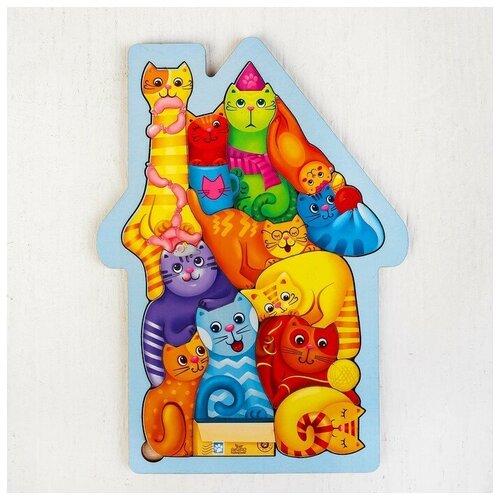 Купить Лесная мастерская Головоломка «Коты», размер 28 × 20см, головоломка логическая, Головоломки