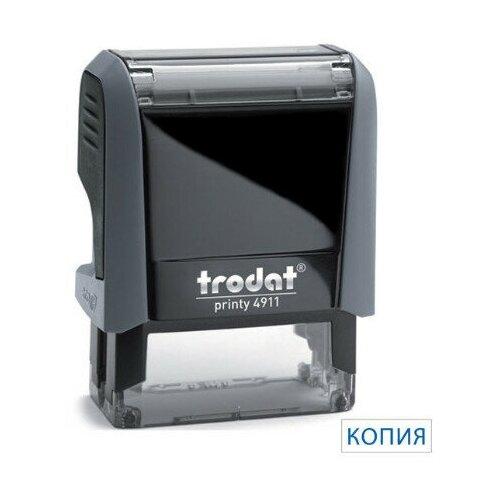 Фото - Штамп текстовый Trodat Копия, 4911/DB, серый штамп trodat 4911 db прямоугольный копия верна самонаборный синий