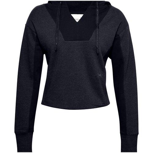 Худи Under Armour Rival Fleece EMB Hoodie, размер LG, black medium heather/black