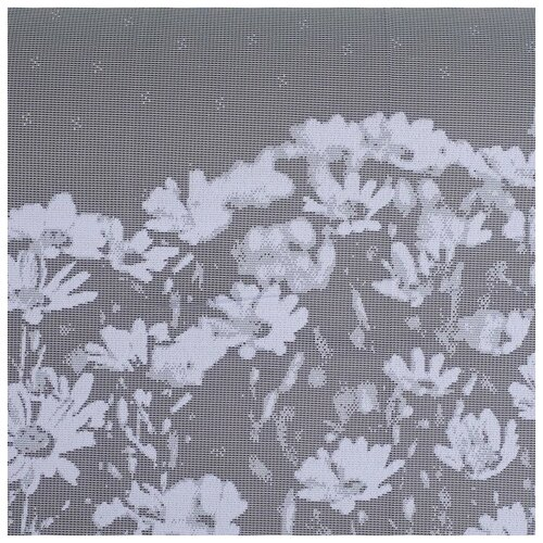 Фото - Тюль Лента на шторной ленте, 260*160 см, цвет белый, 100% п/э тюль лента м290 на зажиме 160 см белый