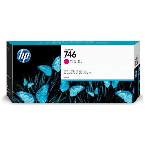 Фото - HP P2V78A Картридж оригинальный 746 пурпурный (красный) Magenta 300 мл для DesignJet Z6, Z6 DR VT, Z9+ Z9, Z9+ DR VT принтер hp designjet z6 44 in
