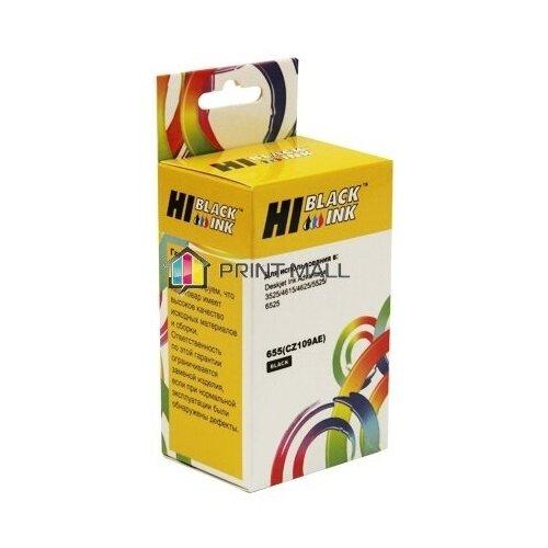 Фото - Картридж для HP DJ IA 3525/5525/4515/4525, №655, Black (Hi-Black) CZ109AE картридж hp f6v17ae 123 black для dj 2130