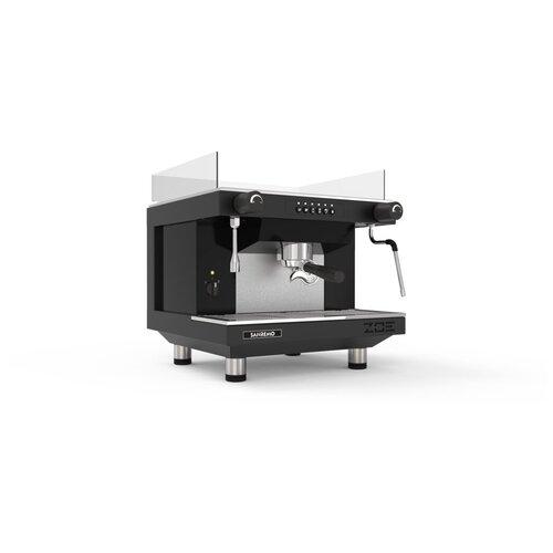 Кофемашина-автомат рожковая профессиональная для дома и кофейни Sanremo ZOE 1GR SED, 1 группа, черная