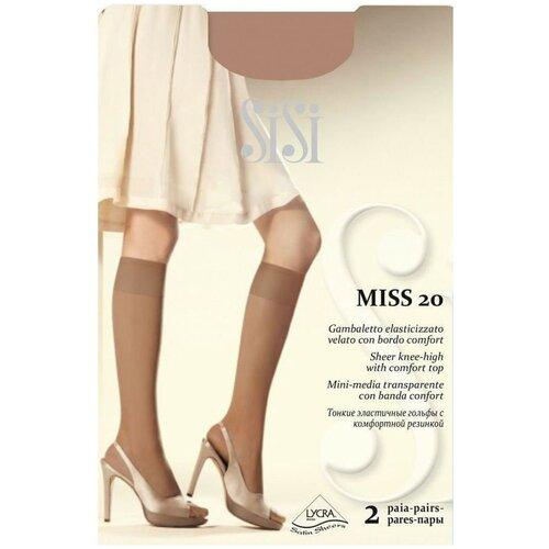 Капроновые гольфы Sisi Miss 20 den New, 2 пары, размер 0 ( one size), daino