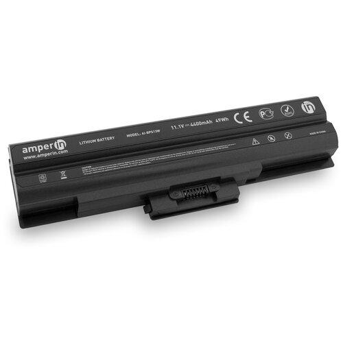 Аккумуляторная батарея Amperin для ноутбука Sony Vaio VGN VPC Series 11.1V 4400mAh AI-BPS13W черная