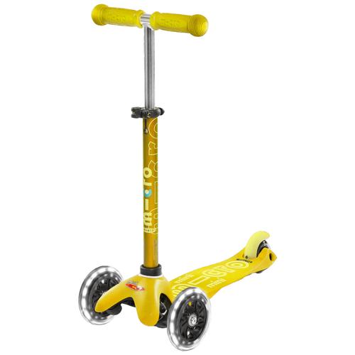 Детский кикборд Micro Mini Micro Deluxe LED, yellow