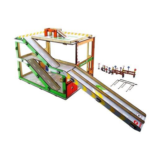 Купить Мастер игрушек IG0328, зеленый/красный/оранжевый/желтый/серый, Детские парковки и гаражи