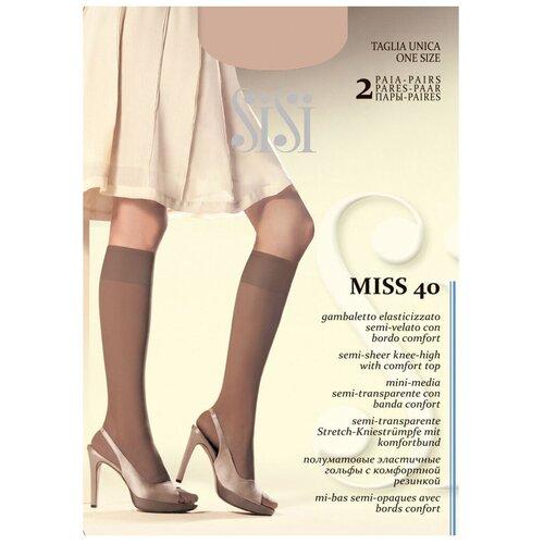Капроновые гольфы Sisi Miss 40 den New, 2 пары, размер 0 ( one size), miele