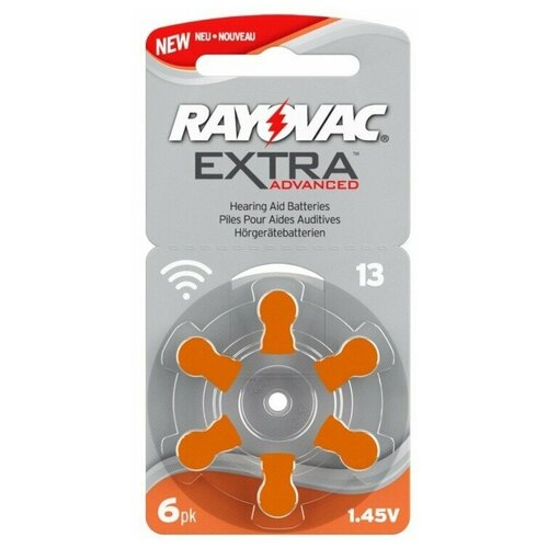 Фото - Батарейка RAYOVAC Extra ZA13, 6 шт. батарейка rayovac peak za13 6 шт