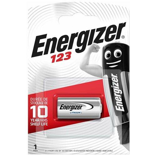 Фото - Батарейка Energizer CR123, 1 шт. батарейка energizer max plus aa 4 шт