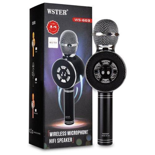 Караоке-микрофон Wster WS-669 черный
