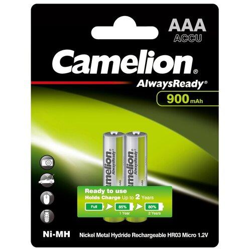 Фото - Аккумулятор Ni-Mh 900 мА·ч Camelion Always Ready AAA, 2 шт. аккумулятор ni mh 1000 ма·ч camelion nh aaa1100 2 шт