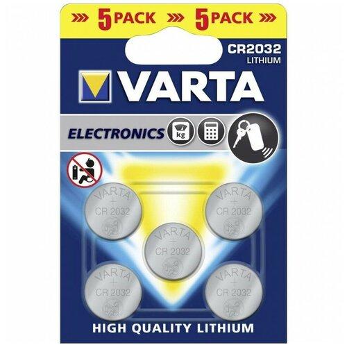 Фото - Батарейка VARTA CR2032, 5 шт. батарейка smartbuy cr2032 5 шт