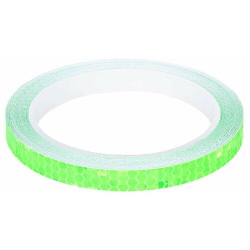 Клейкая лента светоотражающая для велосипеда Monblick Glow, зеленый, 8 м