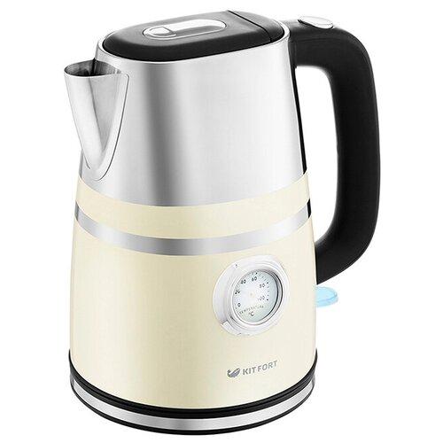 Чайник Kitfort KT-670-3, бежевый недорого