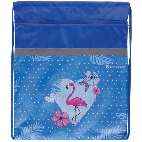 brauberg сумка для обуви flamingo 229174 синий BRAUBERG Сумка для обуви Flamingo (229174) синий