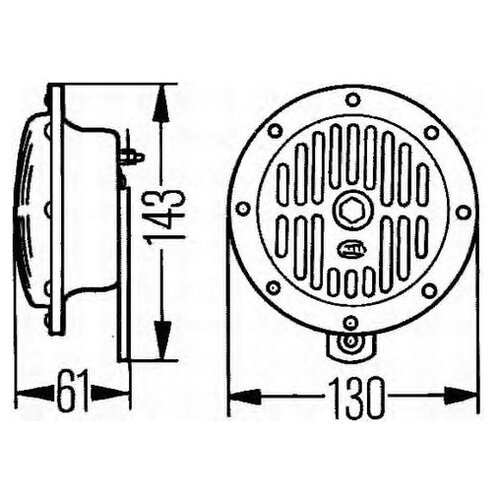 Звуковой сигнал Hella 3CA 004 811-011