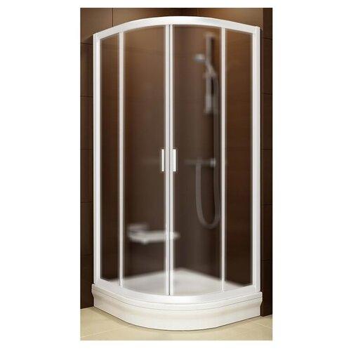 Душевой уголок RAVAK Blix BLCP4-90 90см*90см профиль белый/стекло грейп матовое