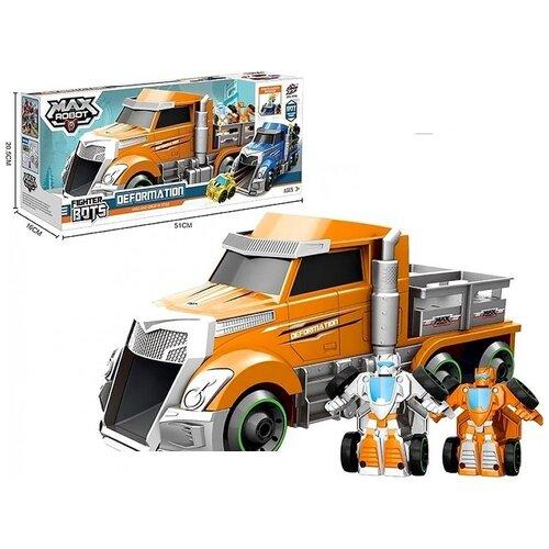 Фото - Трейлер с роботами 1Toy Мой первый трансформер, 45 см, оранжевый (Т19434) трансформер 1toy мой первый трансформер суперкар