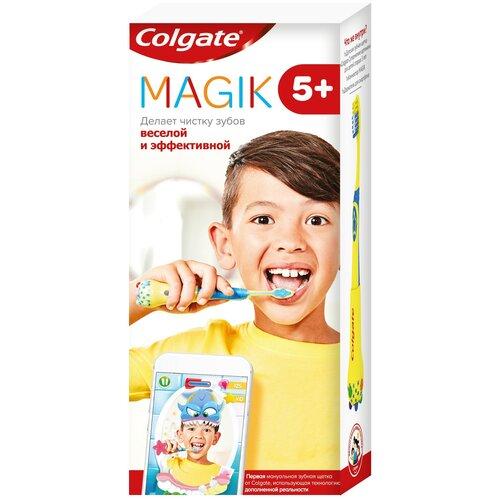 Купить Зубная щетка Colgate Magik 5+, желтый, Гигиена полости рта