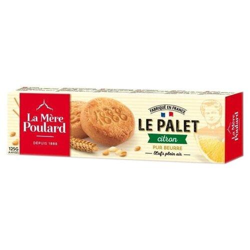 Печенье La Mere Poulard LE PALET Citron, 125 г