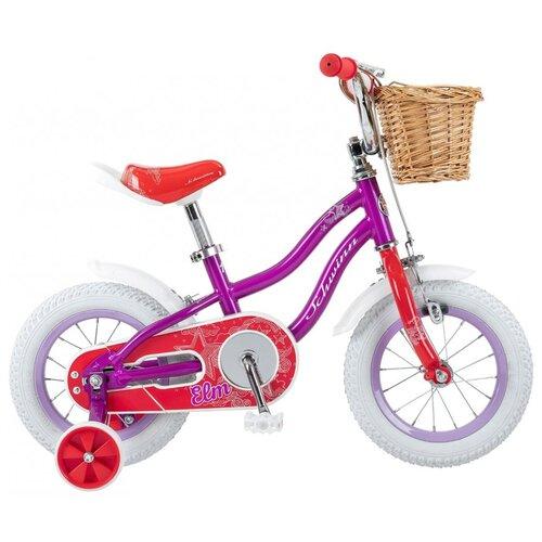 Детский велосипед Schwinn Elm 12 фиолетовый/белый (требует финальной сборки)