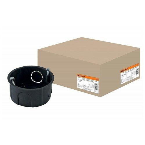 Установочная коробка СП D65х25мм, саморезы, стыковочные узлы, IP20,TDM