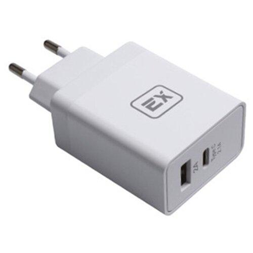Фото - Зарядное устройство для телефона 1USB+Type-C 4,1A Exployd Sonder EX-Z-439 White зарядное устройство exployd sonder 2xusb 3 4a white ex z 775