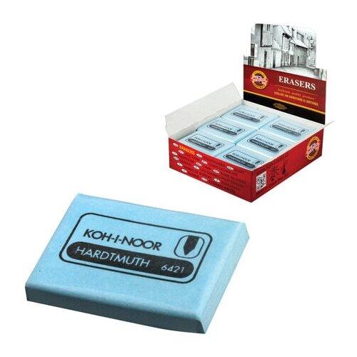 Фото - Ластик-клячка KOH-I-NOOR, 47x36x10 мм, голубой, прямоугольный, мягкий, натуральный каучук, 6421018009KD - 3 шт. ластик прямоугольный синтетич каучук белый 39х19х10 мм index пакет