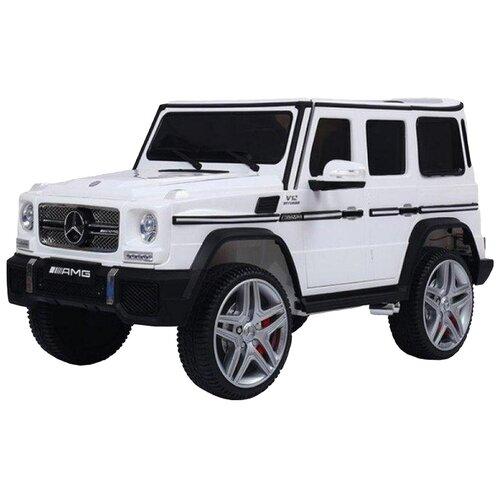 Купить RiverToys Автомобиль Mercedes-Benz G65 AMG 4WD, белый, Электромобили