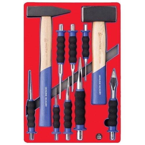 Фото - Набор инструментов МАСТАК 5-9010, 10 предм., красный/синий набор отверток мастак 04 20c 20 предм красный синий