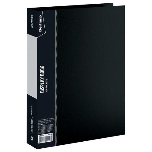 Фото - Berlingo Папка со 100 вкладышами Standard A4, пластик черный berlingo папка со 100 вкладышами standard a4 пластик синий