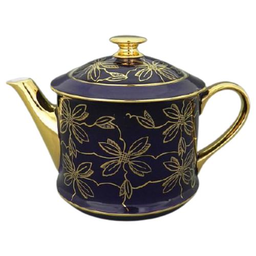 Чайник заварочный Виндзор Золотые листья (0.4 л), кобальт, Leander