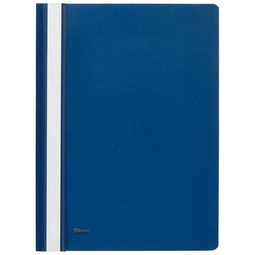 Комус Папка-скоросшиватель А4, пластик синий