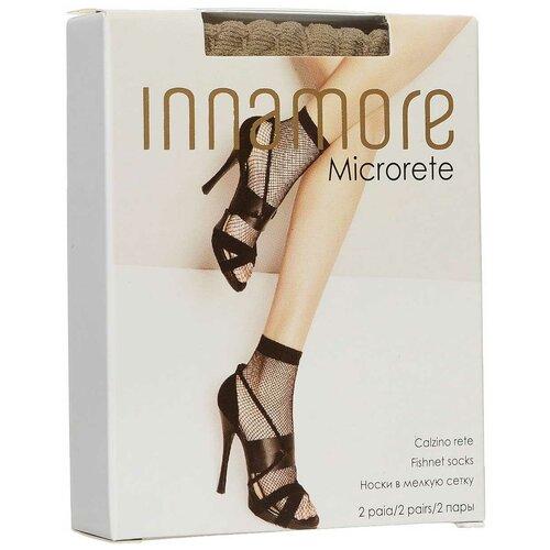 Капроновые носки Innamore Microrete Calzino, 2 пары, размер UNI, miele