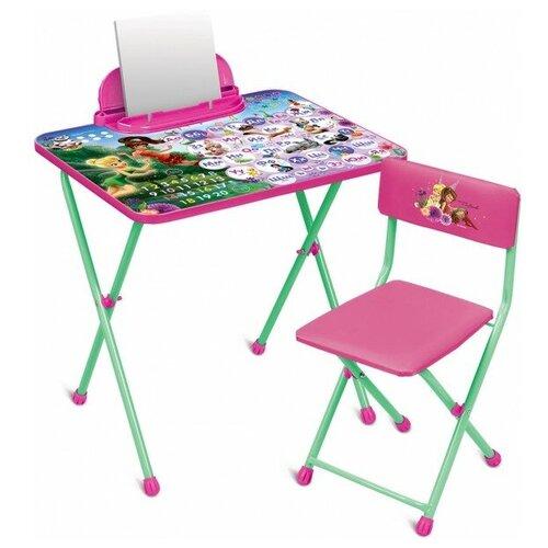 Купить Nika Комплект детской мебели Disney 2 Феи. Азбука (стол 570+пен+стул мяг ), Парты и столы
