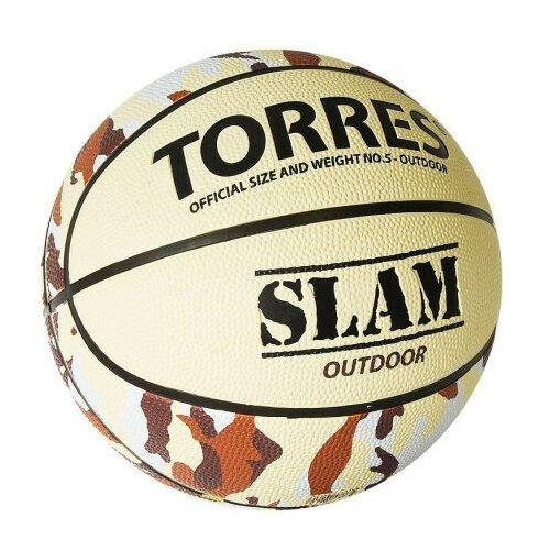 Мяч баскетбольный TORRES SLAM, р.5 B02065 мяч баскетбольный torres slam b02065 р 5