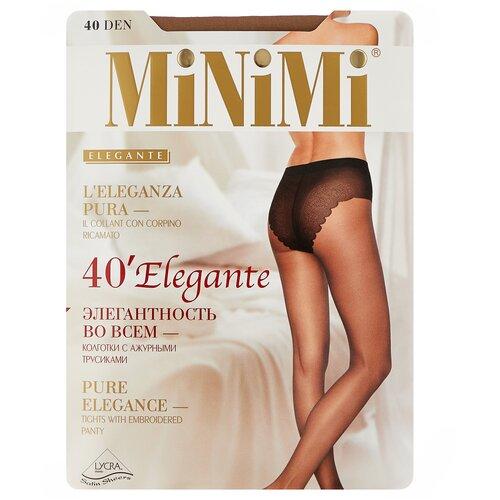 Фото - Колготки MiNiMi Elegante, 40 den, размер 4-L, daino (бежевый) колготки minimi slim control 40 den размер 4 l daino бежевый