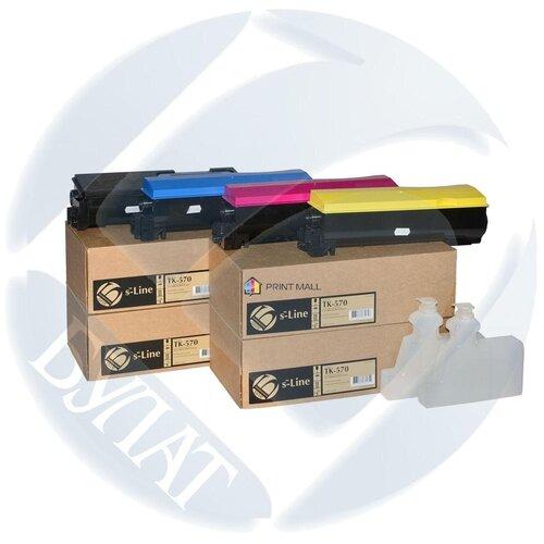 Фото - Картридж Bulat s-Line для Kyocera Mita FS-C5400, ECOSYS P7035c (12000 стр.) Cyan TK-570C с чипом тонер картридж булат s line tk 5160c для kyocera ecosys p7040cdn голубой 12000 стр