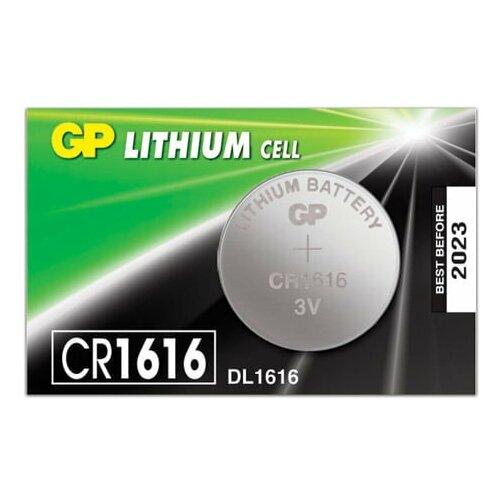 Фото - Батарейка GP Lithium, CR1616, литиевая, 1 шт., в блистере (отрывной блок), CR1616-7C5, CR1616RA-7C5 батарейка gp alkaline 192 g3 lr41 алкалиновая 1 шт в блистере отрывной блок 192 2cy 4891199015533
