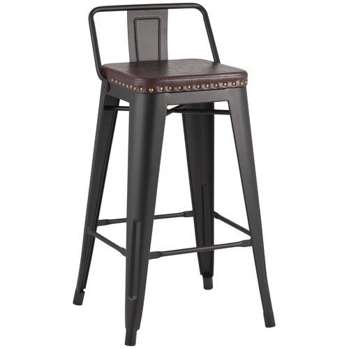 Фото - Стул полубарный TOLIX SOFT черный матовый стул полубарный peggy 60 матовый коричневый черный