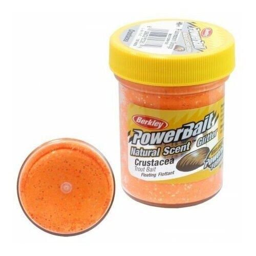 Паста форелевая Berkley PowerBait Natural Scent Bloodworm Fluo orange