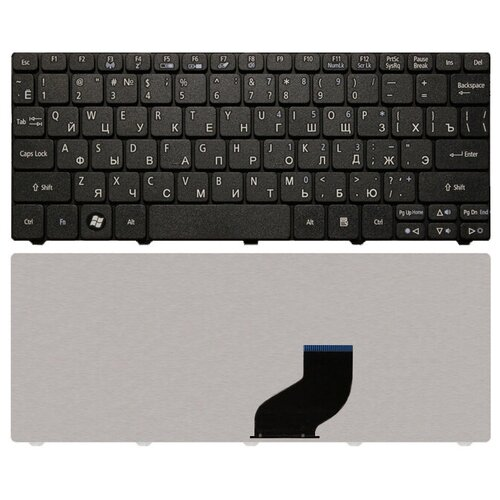 Клавиатура для ноутбука EMACHINES 350 черная