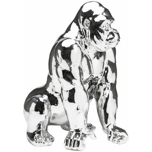 KARE Design Статуэтка Gorilla, коллекция Горилла 46*57*38, Полирезин, Серебряный