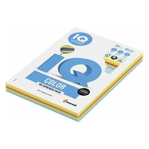 Фото - Бумага цветная IQ color, А4, 160 г/м2, 100 л. (5 цветов x 20 листов), микс интенсив, RB02 бумага цветная iq color а4 160 г м2 100 л 5 цветов x 20 листов микс интенсив rb02