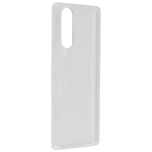 Чехол Brosco для Sony Xperia 5 Silicone Transparent 5-TPU-TRANSPARENT чехол для sony h4113 xperia xa2 brosco накладка розовый